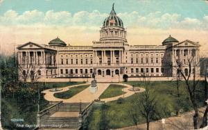 USA Exterior of State Capitol Harrisburg 01.93