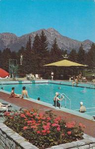 Swimming Pool, Jasper Park Lodge, CAnadian Rockies, Canadian National Railway...