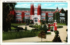 Tallahassee FL State College for Women Postcard unused 1915-30s
