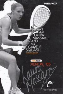 Laura Massaro Ladies Squash Champion Hand Signed Card Photo