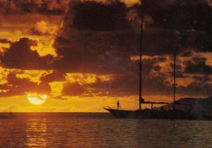 Sunset at Beau Vallon Mahe Singapore Postcard