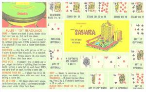 Nevada  Las Vegas ,  The Sahara ,  Blackjack Hands