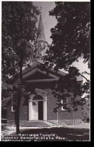 Kentucky Harrodsburg Temple Where Lincolns Parents Were Married Real Photo RPPC
