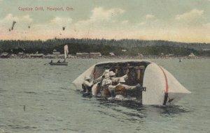 NEWPORT , Oregon, PU-1909 ; Capsize Drill, Life Saving Corps