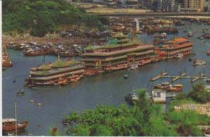 #87: Aerial View of the Floating Restaurant of Aberdeen, Hong Kong, China