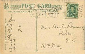 Chelsea, MA Universalist Church, 1st Baptist Church, City Hall 1908 B&W Postcard