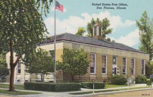 Illinois Des Plaines Post Office 1951 Curteich