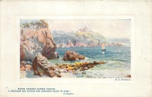 Pendennis Point Falmouth England~~TUCK Plate-Marked #9723~Artist HB Wimbush