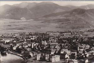 RP; Aerial View of Ruzomberok, Slovakia, 10-20s