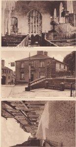 Haworth Hilly Street Church Black Bull Pub 3x Yorkshire Old Postcard s