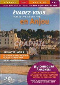Postcard Old Evader You Spend Your Weekend Endes in Anjou