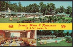Virginia JARRATT Motel & Restaurant, U.S. 301 - Chrome 1950s-1970s