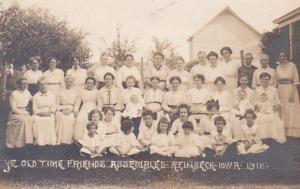 Iowa Rheinback Ye Old Time Friends Assembled 1916 Real Photo