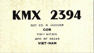 QSL Radio Card From Viet-Nam Vietnam KMX 394