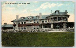 Mt Mena Arkansas~Long Stone Wall Across Hotel Wilhelmina~2nd Story Sunroom~c1910