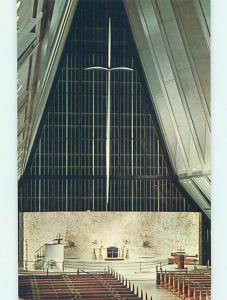 Unused Pre-1980 CHURCH SCENE Colorado Springs CO p4008