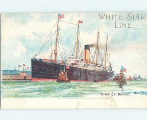 Divided-Back postcard of NAMED IDENTIFIABLE BOAT hp8531