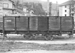 Wagon plat no 2502, empattement court, a Bonne, J.-L. Rochaix 1960