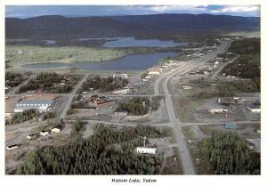 Canada Watson Lake, Yukon Alaska Highway Panorama
