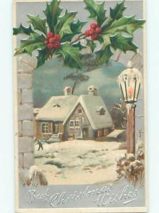 Divided-Back CHRISTMAS SCENE Great Postcard W9462
