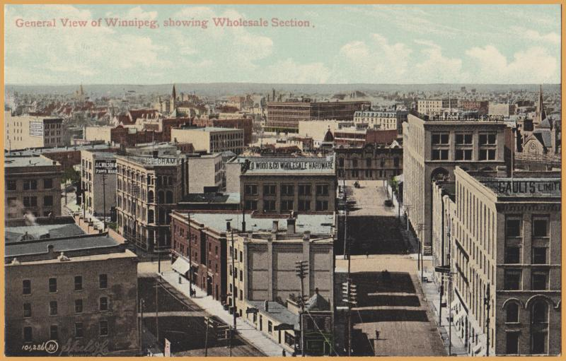 Winnipeg, Manitoba - General view of the city, showing Wholesale section -