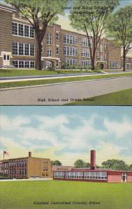 Ohio Columbiana Local and Rural Schools Curteich