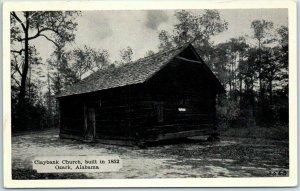 Ozark, Alabama Postcard CLAYBANK CHURCH, Built in 1852 Dexter Press c1940s