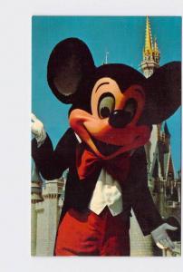 VINTAGE POSTCARD WALT DISNEY WORLD MICKEY IN FRONT OF CINDERELLA'S CASTLE #2
