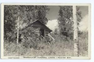 RP Marwick's Hunting Lodge Regina Bay Camp Ontario ON 1938