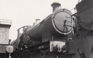 GWR Railway Train 4113 Samson Bulldog Class Swindon Station Scrap Yard Postcard