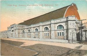 Baltimore MD~5th Regiment Armory~Stone Convention Hall~Crenellated Roofline~1912