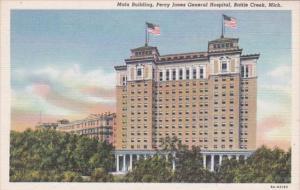 Michigan Battle Creek Main Building Percy Jones General Hospital Curteich