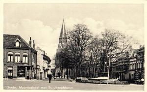 St Maurice Street Breda Dutch Holland Village 1945 WW2 Old Wartime Postcard