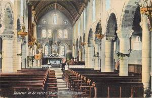 Interior of St. Peter`s Church Northampton