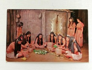 Cherokee Women Postcard Indian Harvest Dance Cherokee NC Tourist Native American