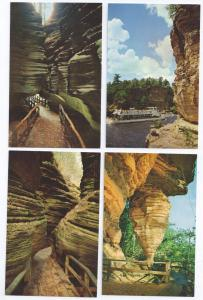 Wisconsin Dells River Boat Tour Rock Formations (4 Cards)