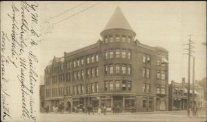 Southbridge MA YMCA Bldg c1905 Real Photo Postcard