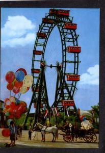 Vienna Austria Prater, Big Ferris Wheel, Wien Postcard, Carte Postale