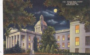 Florida Tallahassee State Capitol Building By Moonlight Curteich
