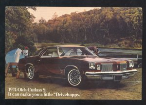 1974 OLDSMOVILE CUSTLASS S CAR DEALER ADVERTISING POSTCARD STOUGHTON WISCONSIN