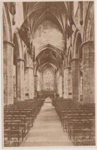 Sepia Tone View: Interior of the Nave, St. Giles Cathedral, Edinburgh Scotland