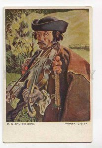3046544 Gipsy VIOLIN musician by Sichulski Vintage PC