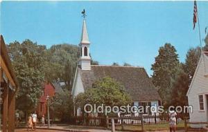 Churches Vintage Postcard Mystic Seaport Vintage Postcard Fishtown Chapel