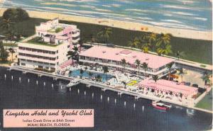 art deco kingston hotel and yacht club  miami beach  florida L5026 antique postc