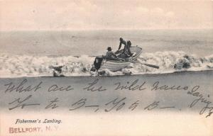 Fisherman's Landing, Bellport, New York, Early Postcard, Used in 1907