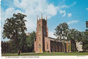 Exterior, St. Paul's Cathedral, London, Ontario,   Canada,  50-70s