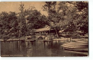 Boat House at OLENTANGY PARK, Columbus, Ohio - 1911 Postcard