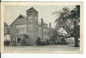 CG-329 NC, Elizabethtown, Bladen County Courthouse, White Border Era Postcard