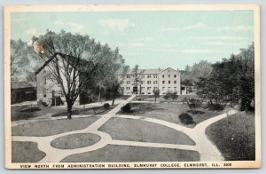 Elmhurst College IL~Campus View North @ Administration Bldg~Circle 1919 Bluesky