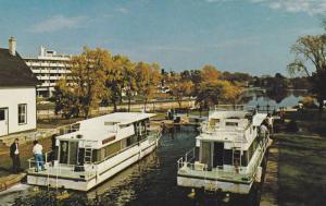 Pleasure Craft, In lock, RIDEAU Canal system , Ontario , Canada , 40-60s #2
